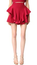 C Meo Collective Heart Commands Skirt Raspberry