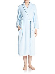 Carole Hochman Textured Plush Robe Cornflower Blue