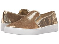 Michael Michael Kors Keaton Slip On Pale Gold Sequin Women's Slip On Shoes