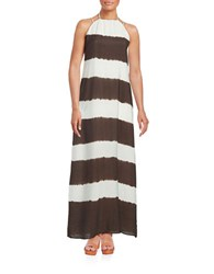 Bailey 44 Galabeya Tie Dye Maxi Dress Brown White