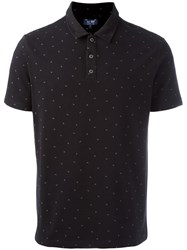 Armani Jeans Shortsleeved Polo Shirt Black