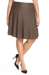 Plus Size Women's Nic Zoe 'Twirl Flirt' Paneled Skirt River Rock