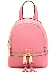 Michael Michael Kors Extra Small 'Rhea' Backpack Pink And Purple