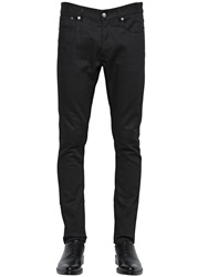 Givenchy 17.5Cm Zipped Stretch Cotton Denim Jeans Black