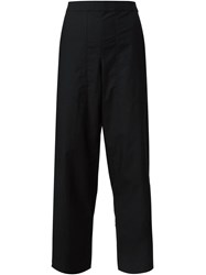 Christophe Lemaire Lemaire High Waisted Cropped Trousers Black