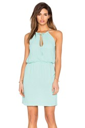 Tessora Halter Tie Waist Mini Dress Mint
