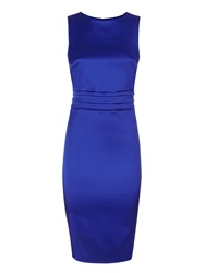 Hotsquash Silky Dress With Tie Belt And Pleat Royal Blue