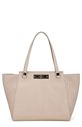 Elliott Lucca 'Bali 89' Woven Leather Tote Porcelain