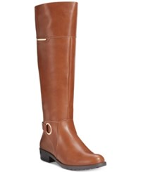 Alfani Women's Jadah Tall Wide Calf Riding Boots Only At Macy's Women's Shoes Cognac