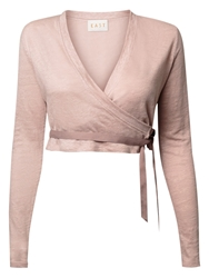 East Wrap Cardigan Pale Pink