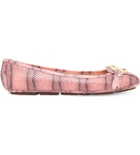 Michael Michael Kors Fulton Leather Moccasins Pale Pink