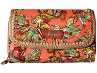 Sakroots Artist Circle Xl Wallet Coral Treehouse Wallet Handbags Brown