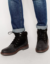 Firetrap Lace Up Military Boots Black