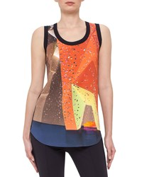 Akris Punto Rock Climbing Wall Tank Navy Women's