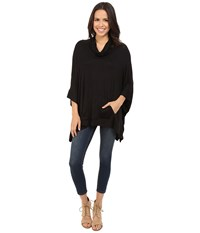Culture Phit Elettra Cowl Neck Poncho Black Women's Coat
