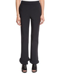 Opening Ceremony William Circle Ruffle Hem Ponte Pants Black