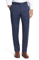 Nordstrom Men's Men's Shop Flat Front Wool Trousers High Blue
