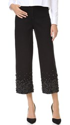 Tibi High Waist Embellished Jeans Black