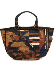 Jamin Puech Camouflage Effect Shopping Bag Multicolour