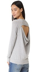 Chaser Drape Back Pullover Heather Grey