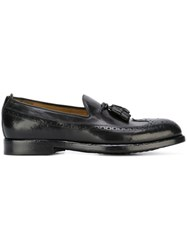 Officine Creative 'Ivy' Brogue Tassel Loafers Black