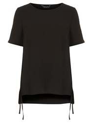 Dorothy Perkins T Shirt With Tie Side Detail Black