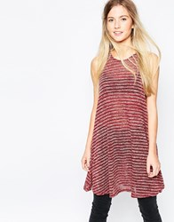 Wal G Tunic In Stripe Red