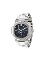 Patek Philippe 'Nautilus' Analog Watch Black