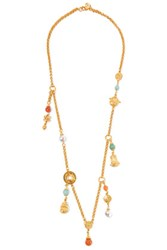 Ben Amun Gold Tone Beaded Necklace