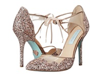 Blue By Betsey Johnson Stela Champagne Glitter High Heels Gold