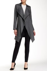 1.State Herringbone Trench Coat Gray