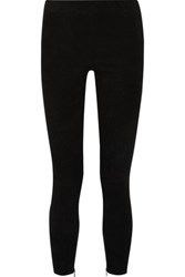 Vince Stretch Suede Leggings Black