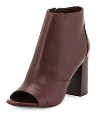 Vince Fionn Open Toe Leather Bootie Fig Men's Size 35B 5B