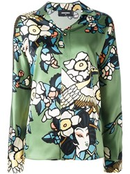Dsquared2 'Cherry Blossom' Print Shirt Green