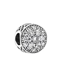 Pandora Design Pandora Charm Sterling Silver And Cubic Zirconia Radiant Bloom Moments Collection