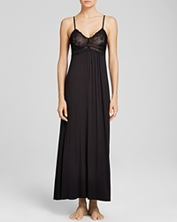 Donna Karan Sleepwear Liquid Jersey Long Gown Black