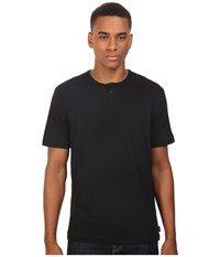 Brixton Addison Short Sleeve Henley Black Men's Short Sleeve Pullover