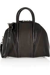 Helmut Lang Chasma Paneled Textured Leather Tote Black