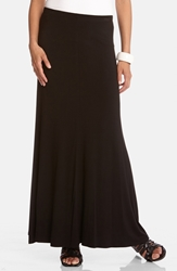 Karen Kane Flared Maxi Skirt Black