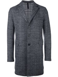 Harris Wharf London Button Up Chester Coat Grey