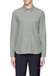 Tim Coppens Extended Jersey Back Cotton Cupro Shirt Green