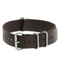 J.Crew Leather Watch Strap Chocolate