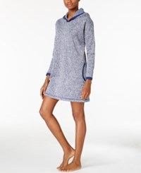 Nautica Contrast Trimmed Lounge Hoodie Blue Heathered