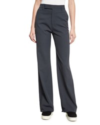 Vince High Waist Wide Leg Pants Dark Gray Dark Grey