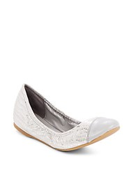 Cole Haan Cortland Leather Ballet Flats Grey