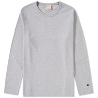 Champion Reverse Weave Long Sleeve Classic Tee Grey