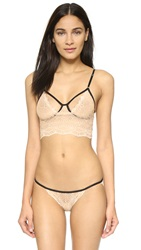 Only Hearts Club Whisper Sweet Nothings Cropped Cami Nude Black