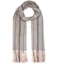 Isabel Marant Alva Wool And Cashmere Scarf Grey