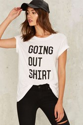 Going Out Shirt Graphic Tee White