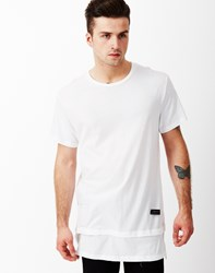 Religion Long Line Extension T Shirt White